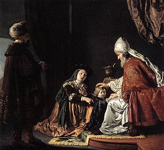 Books of Samuel - Hannah presenting Samuel to Eli, by Jan Victors, 1645.
