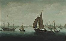 Hans Goderis - Two ferries leaving Hoorn Harbour.jpg