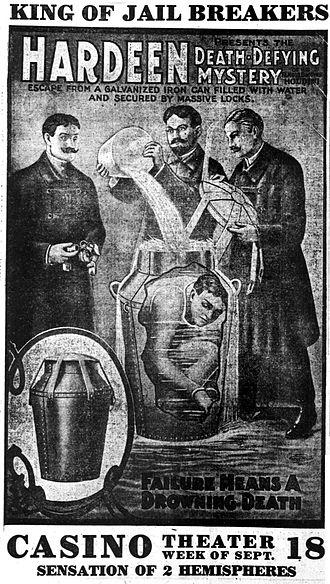 Theodore Hardeen - Image: Hardeen newspaper advertisement 1911