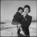 Heart Mountain Relocation Center, Heart Mountain, Wyoming. Alice Chira and daughter Sachi, 28 month . . . - NARA - 539272.tif