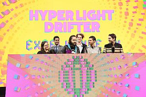 Hyper Light Drifter - The Heart Machine team winning the Independent Games Festival award for Excellence in Visual Art. Alex Preston is third from left.