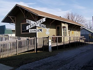 Hebron, Indiana - Image: Hebron Indiana Train Depot 002