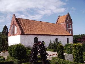 Helnæs - Image: Helnaes Kirke fra nordoest