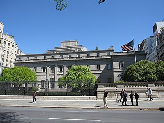 Avengers Mansion - The Henry Clay Frick House on 5th Avenue was the inspiration for the Avengers Mansion