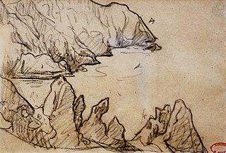 Haute falaise découpée