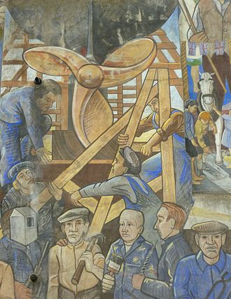 Henry Robb - Shipbuilding at Henry Robb's Yard, shown on the Leith Mural