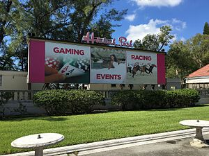 Hialeah Park Race Track - Hialeah Park sign in 2016.