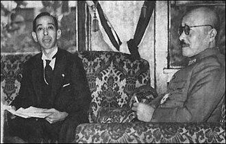 Japanese nationalism - Hideki Tōjō (right) and Nobusuke Kishi, October 1943