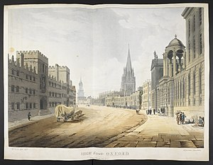 High Street, Oxford (painting) - Image: High Street, Oxford, 1820 (Maps K.Top 34.23.b)