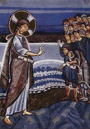 Hitda Codex - Image: Hitda Codex Healing of a man with a withered hand