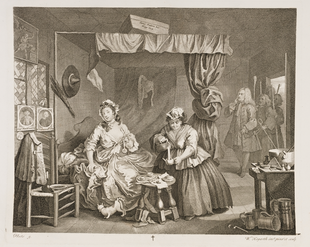 A Harlot's Progress, Plate 3