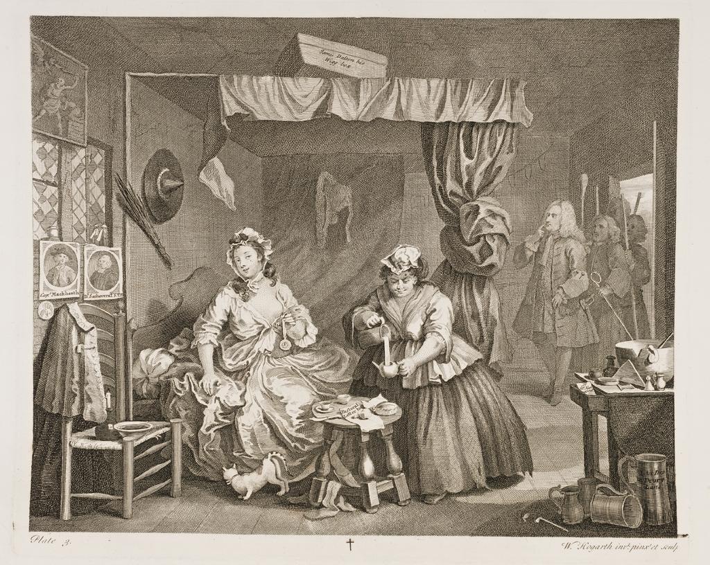 A Harlot's Progress, Plate 3