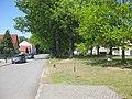 Hohenbocka, Dorfaue nordwestwärts bei Hausnr. 8, Spätfrühling, 01.jpg