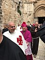 Holy Land 2016 P1017 Jerusalem Church of the Holy Sepulchre Resurrection Sunday procession.jpg
