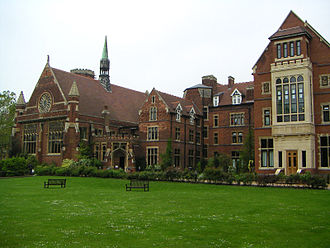 Hills Road, Cambridge - Homerton College, on Hills Road.