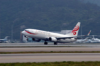 Hong Kong Airlines - A Hong Kong Airlines Boeing 737–800 takes off from Hong Kong International Airport. (2007)