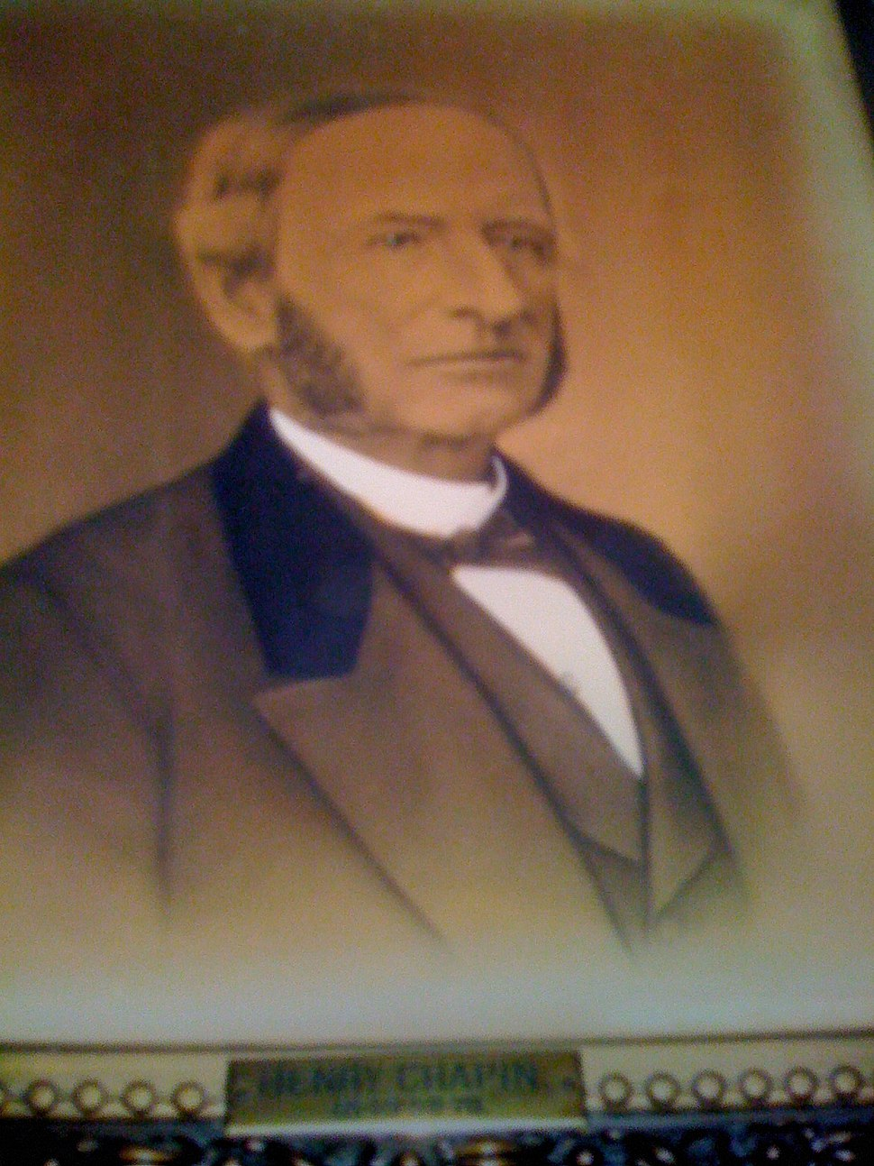 Honorable Henry Chapin, Three term mayor of Worcester, Massachusetts