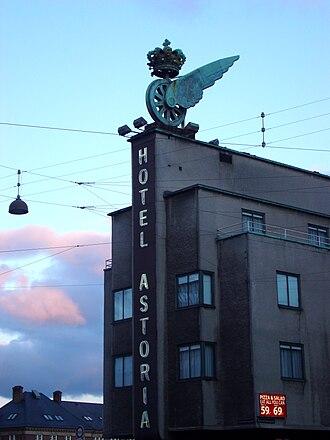 Hotel Astoria (Copenhagen) - Image: Hotel Asoria, Copenhagen detail
