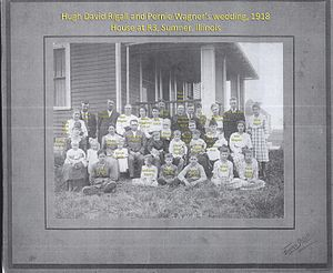 Sumner, Illinois - Hugh David Rigall and Pernie Wagner's wedding, Sumner, Illinois, 1918