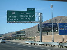 I 15 Southbound At Exit 27