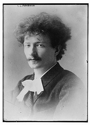 Ignacy Jan Paderewski - Paderewski photographed early in his career