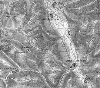 Battle of Tauberbischofsheim - Battlefield of Bischofsheim and Werbach