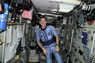 James S. Voss - Voss on board the International Space Station during Expedition 2.