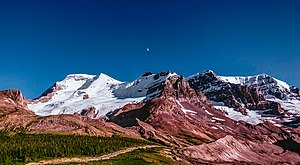 Jasper National Park - Mount Athabasca in Jasper National Park.
