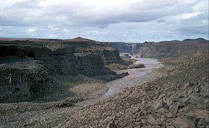 Jökulsá á Fjöllum - Jökulsá á Fjöllum downstream from Dettifoss