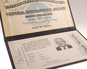 Allen Dulles - CIA ID Card of Allen Dulles