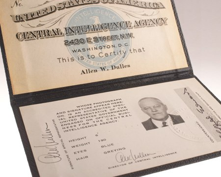 Identification Card of Allen W. Dulles