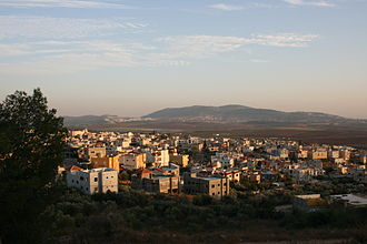 Iksal - A view of Iksal from the east of the town, looking towards the southwest