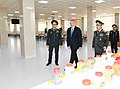 Ilham Aliyev viewed conditions created at newly-reconstructed Military Lyceum named after Jamshid Nakhchivanski 01.jpg