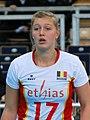 Ilka Van De Vyver - FIVB World Championship European Qualification Women Łódź January 2014.jpg