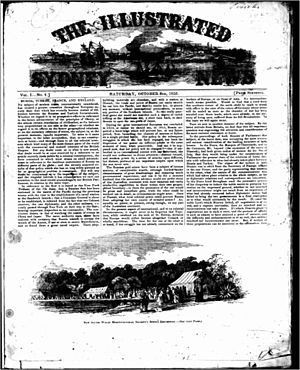 Illustrated Sydney News - First page of first edition