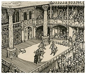 C. Walter Hodges - Hodges' imagined view of an Elizabethan performance