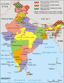 India administrative map 1975 PL.png