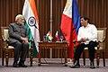 Indian Prime Minister Narendra Modi and Philippines President Rodrigo Roa Duterte meeting in Manila, 2017 (7).jpg