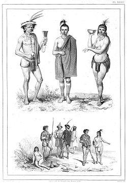 Indianen of Caraïben, waarvan er een getatoueerd is.jpg