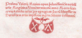 Colophon (publishing) - A colophon printed in 1471