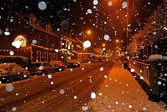 Innerleithen - Image: Innerleithen Snow