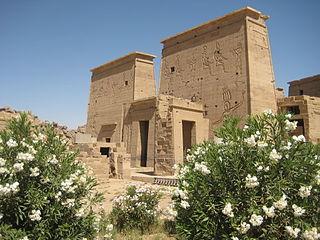 Pylon (architecture) Monumental gateway of an Egyptian temple