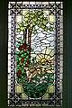 Interieur, overzicht van glas in loodraam, trapbordes, van de Haarlemse glazenier Bogtman, een jachttafereel voorstellende - Steenwijk - 20389213 - RCE.jpg