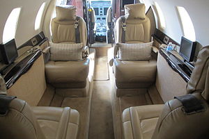 Cessna Citation Sovereign - cabin club seating