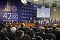 Intervención del Presidente del Ecuador Rafael Correa en la Asamblea General de la OEA (7337474900).jpg