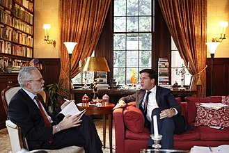 The Wall Street Journal - Mark Rutte prime minister of the Netherlands being interviewed by the Wall Street Journal