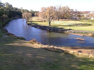 Macintyre River - Macintyre River, at Inverell, New South Wales