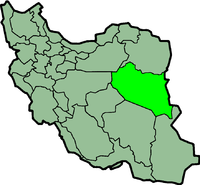 Map of Iran with दक्षिण खोरसान highlighted.