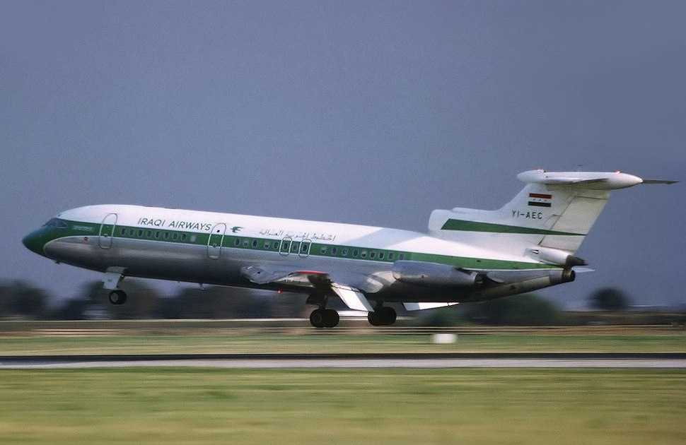Iraqi Airways Hawker Siddeley HS-121 Trident 1E at London Heathrow Airport