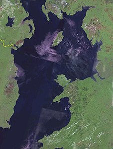 Satellitenbild der Irischen See